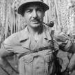 American Colonel Posing at Raid Site of Luzon