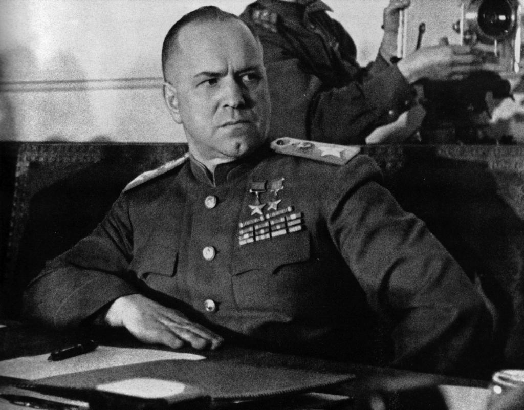 Marszałek Żukow po kapitulacji Niemców