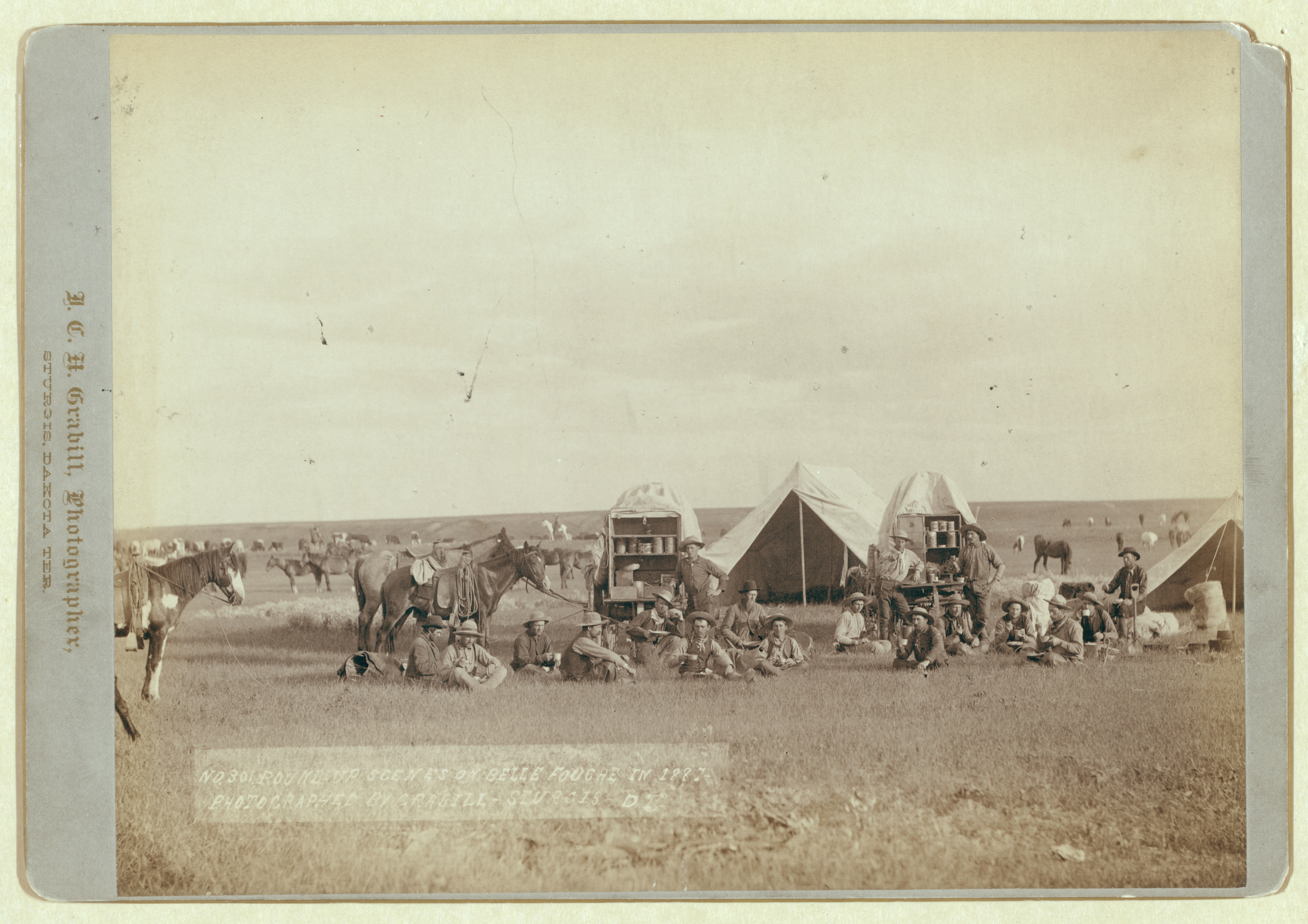 12 Roundup scenes on Belle Fouche [sic] in 1887