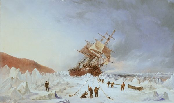 Thomas Sewel Robins - HMS Assistance in the ice